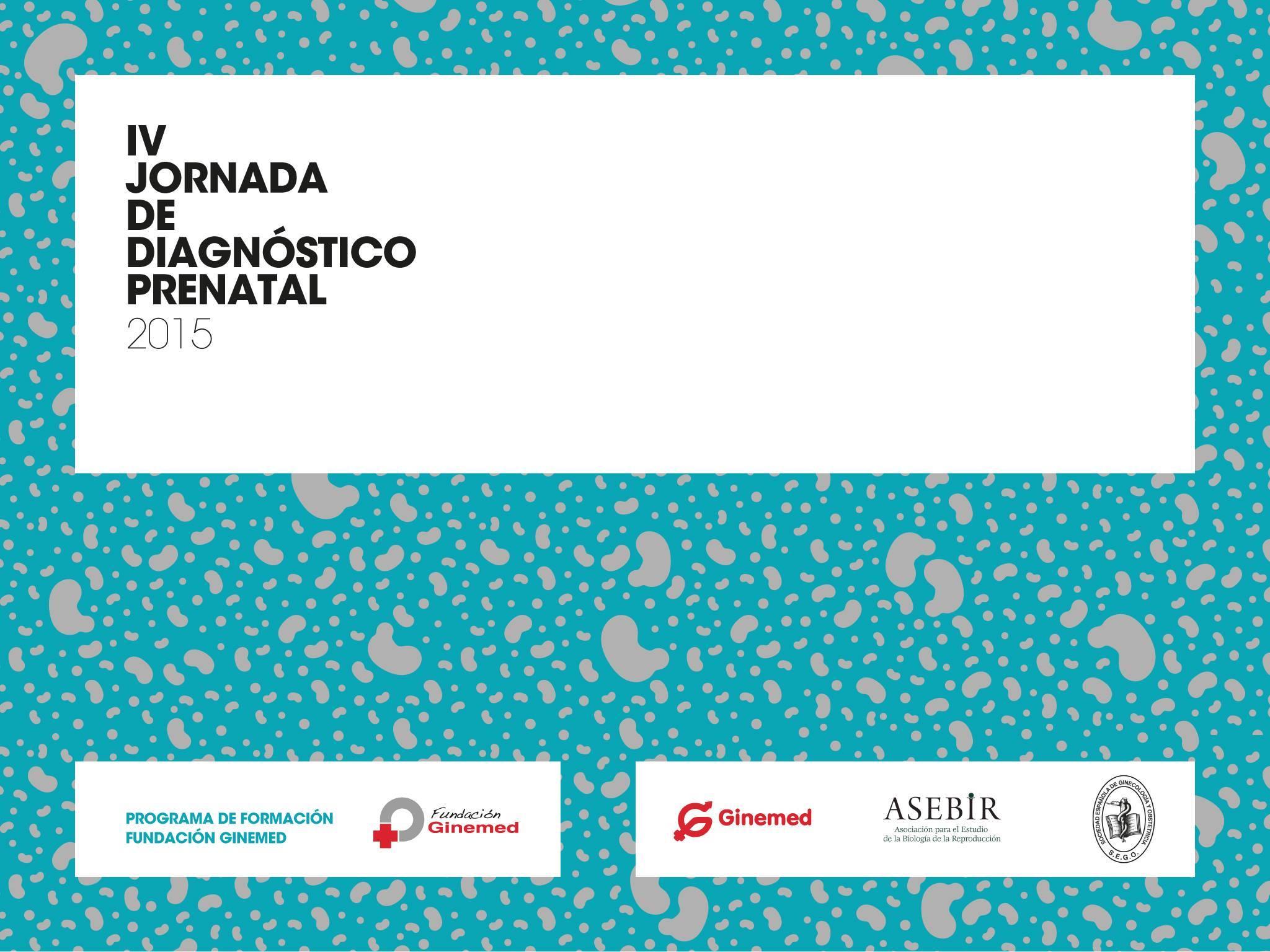 Cartel IV Jornada de diagnóstico prenatal 2015