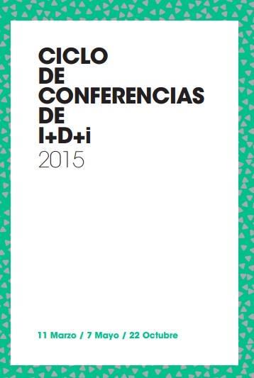 Cartel ciclo de conferencias de I+D+i 2015. Clínicas Ginemed
