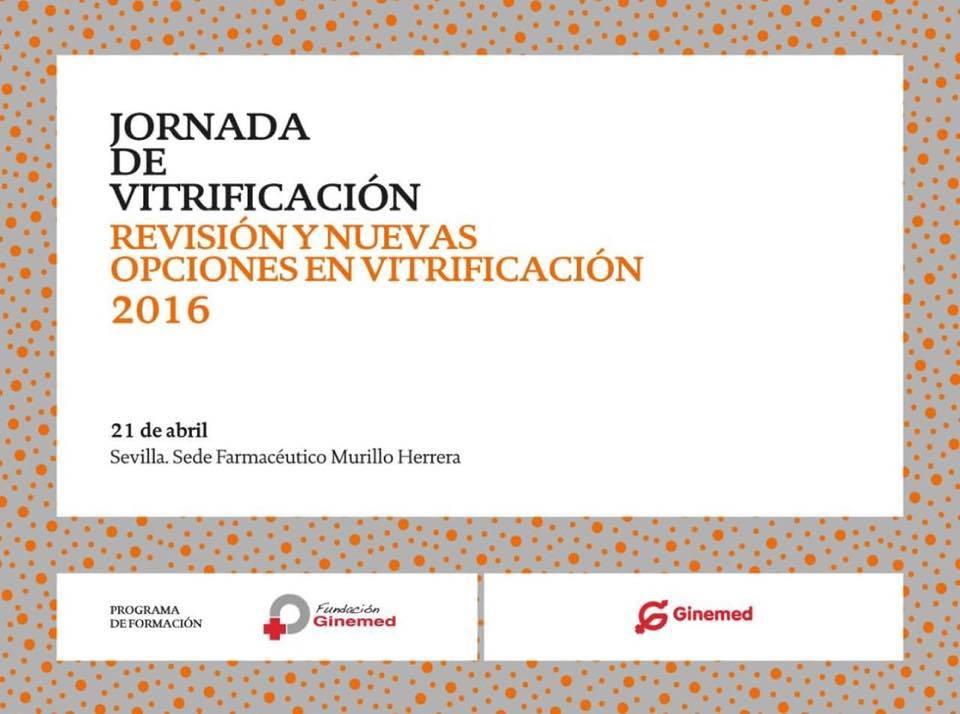 Cartel Jornada de Vitrificación. Revisión y nuevas opciones