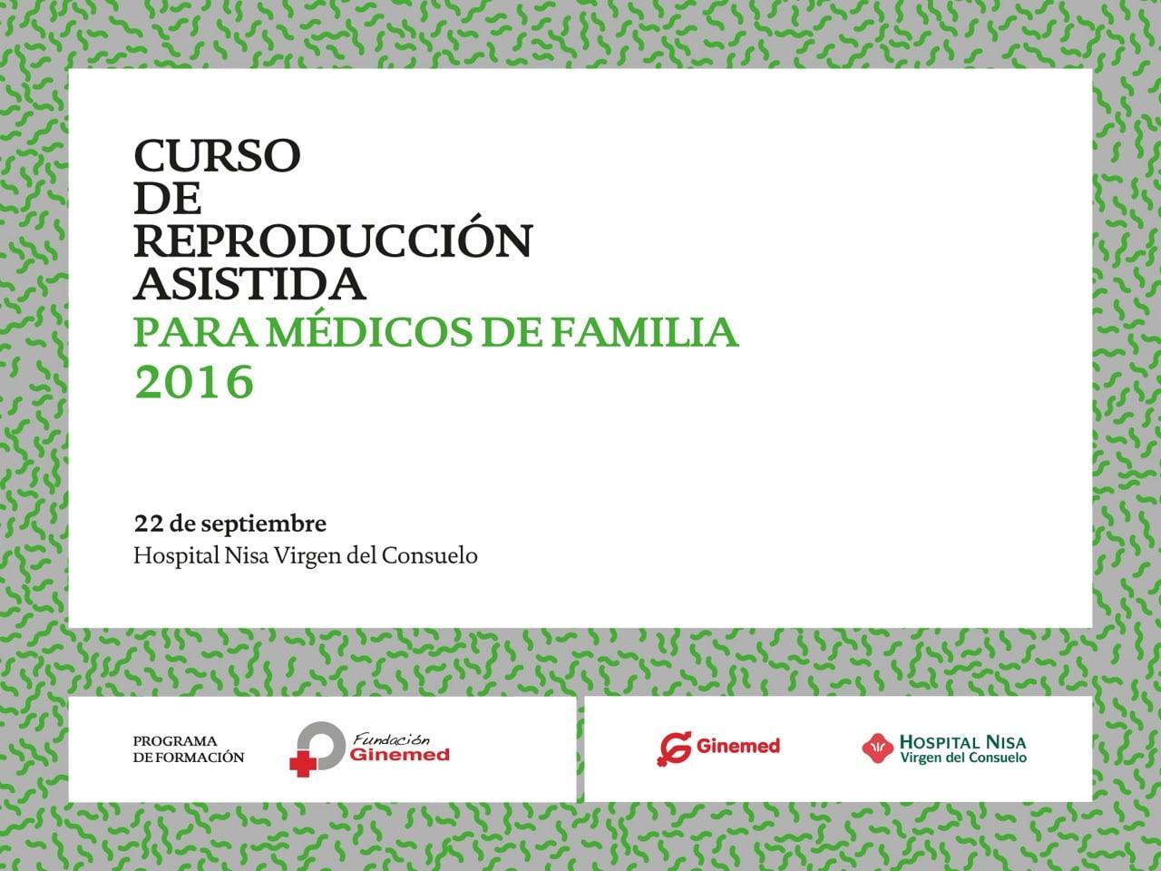 Cartel curso de reproducción asistida para médicos de familia