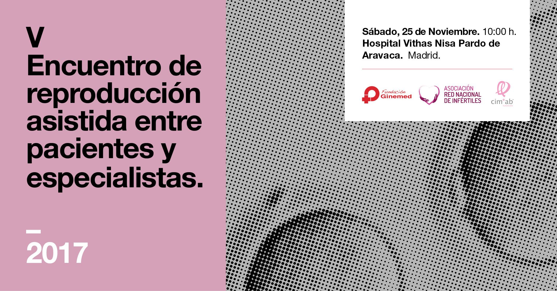 Cartel V Encuentro de reproducción asistida entre pacientes y especialistas