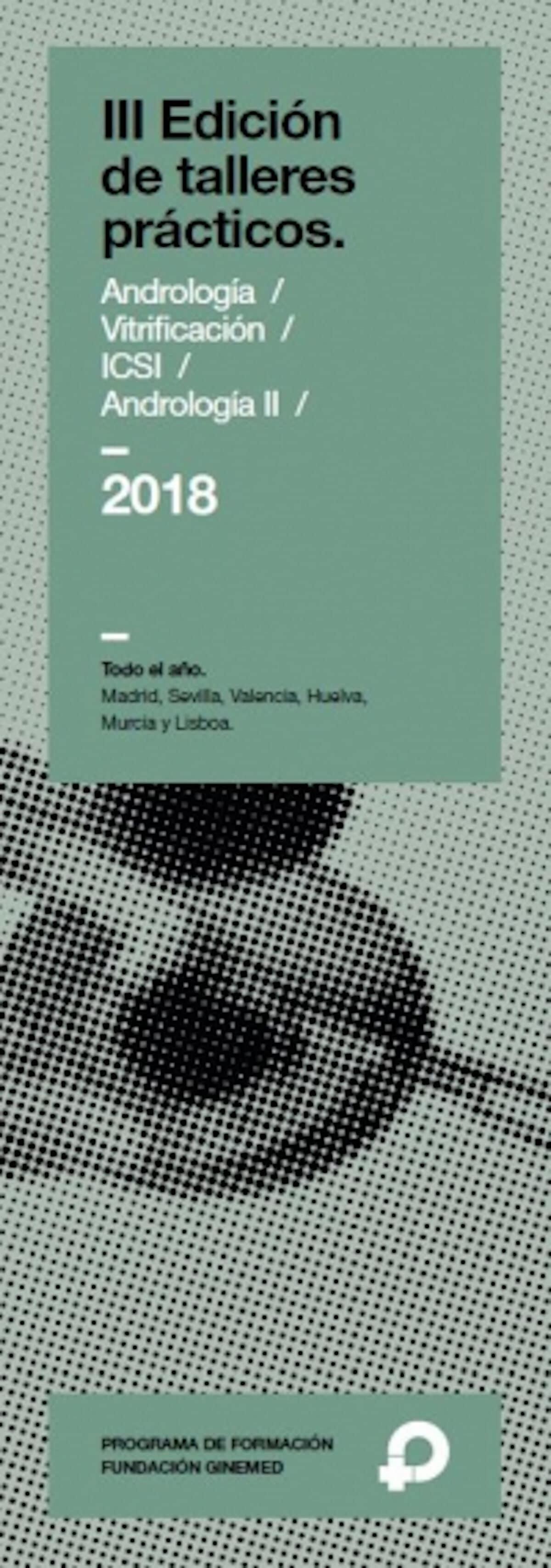 Cartel Taller de Vitrificación. Laboratorio Huelva