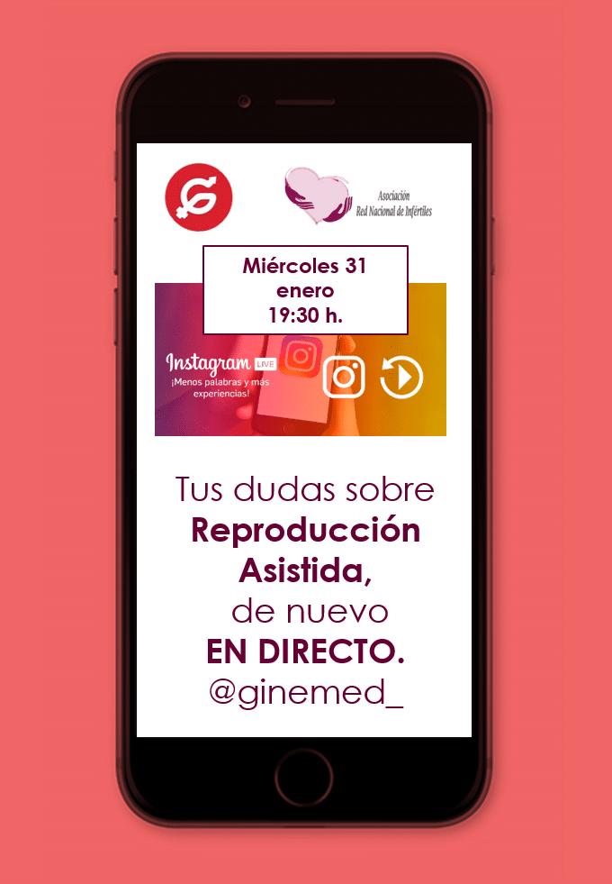 Imagen desde móvil. Sesión instagram: tus dudas sobre reproducción asistida en directo