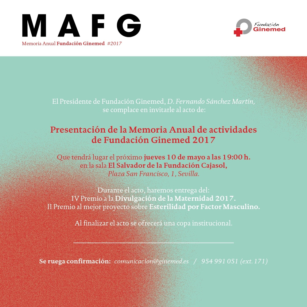 Cartel memoria anual fundación ginemed