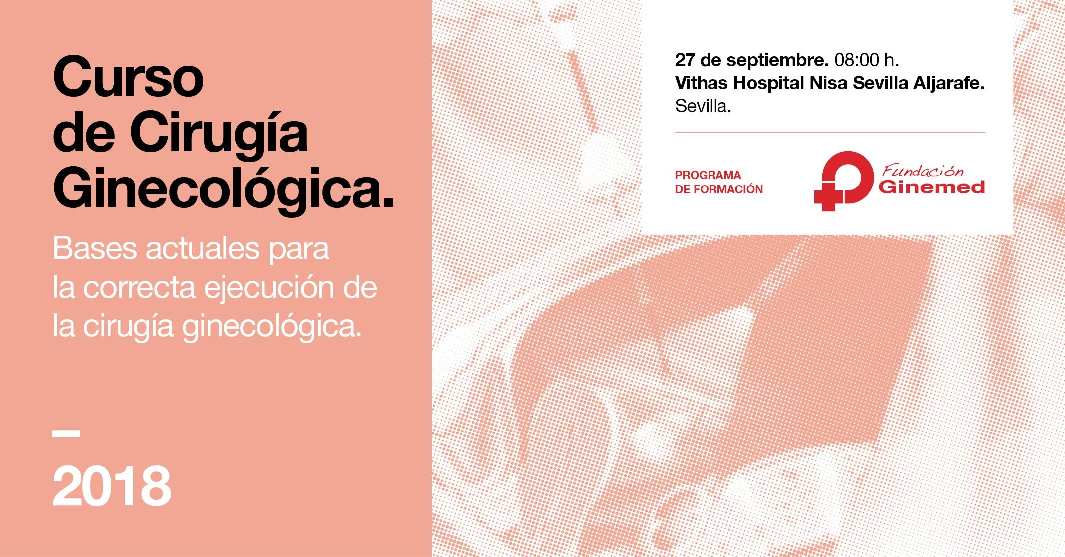 Cartel curso de cirugía ginecológica