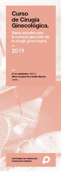 Cartel curso de cirugía ginecológica. 2019. Ginemed