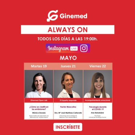 Cartel Instagram Live 6 Semana 19-22 de mayo