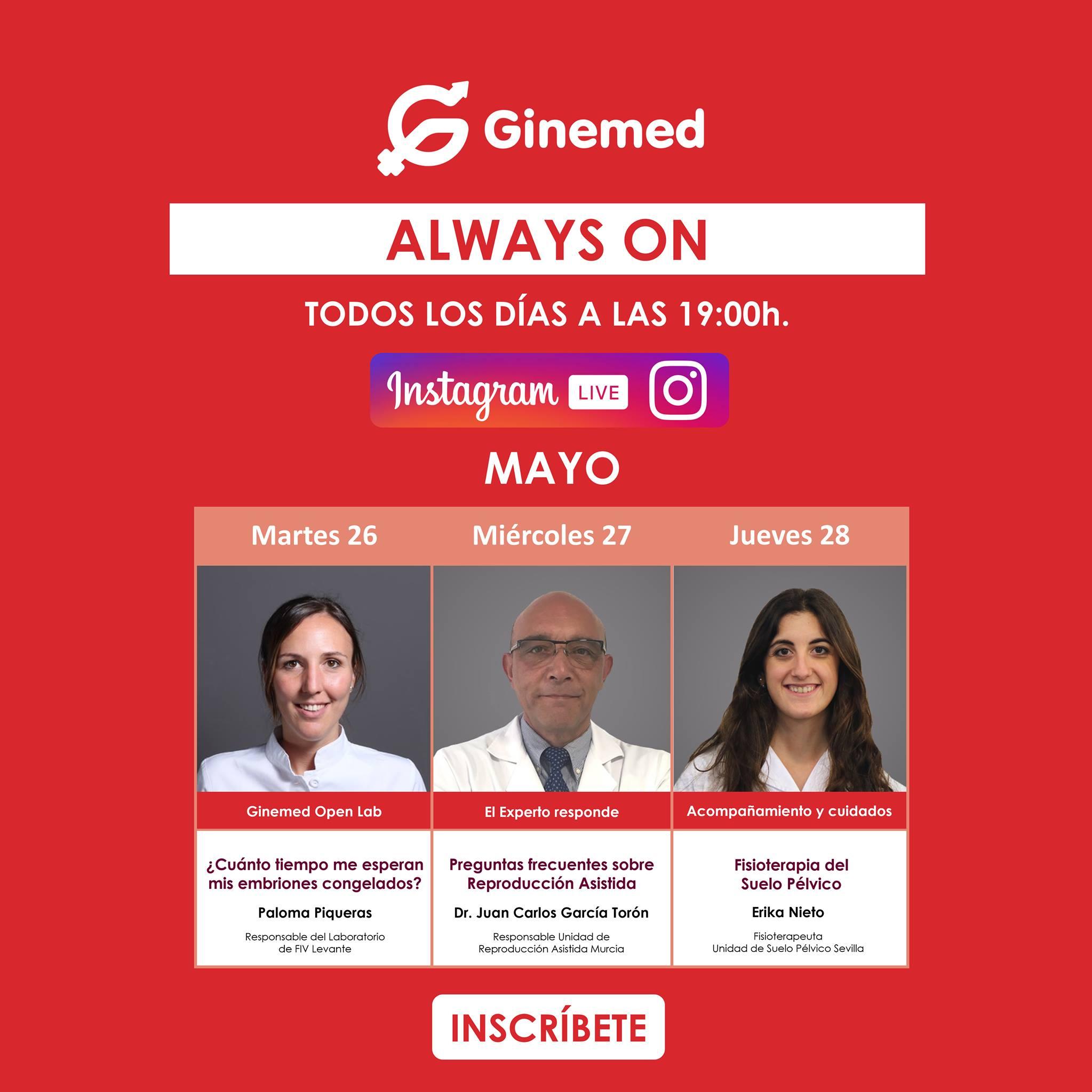 Cartel instagram live Ginemed
